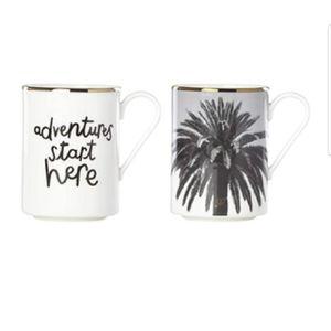 Kate SPADE Lenox Spirit of ADVENTURE Mug set. NWT